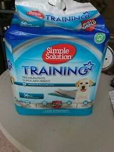 Simple Solution Premium Dog and Puppy Training Pads, Pack of 56 + 8 pack free