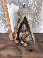 Tee-Pee Native American , Decorative Piece, Vintage Decor, Resin / Composite?