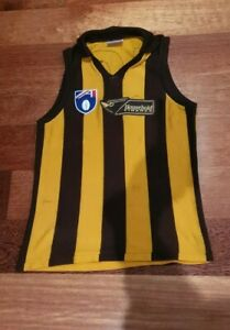 1990's Hawthorn Hawks Jumper Guernsey - AFL / VFL Sekem 100cm Jason Dunstall