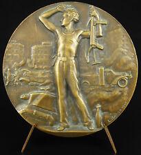 Médaille Libération de Paris sc L Bazor 1944 Freedom Résistance WW2 68 mm Medal
