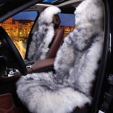 2X 100% Natural Fur Car Seat Covers Australian Sheepskin Long Hair Universal Fit