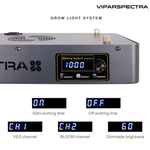 VIPARSPECTRA Timer Control Series LED Grow Light - Dimmable Veg/Bloom Channels