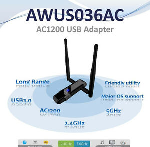Alfa AWUS036AC 802.11ac 867 Mbps WiFi   USB Adapter DUAL BAND  Kali Compatible