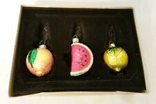Fruit Glass Christmas Ornament Poland