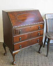 Edwardian - Art Deco Mahogany Ball and Claw Bureau Good Condition Handsome Item