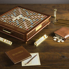 Scrabble Luxury Collectors Edition Wood Cabinet Classic Board Game