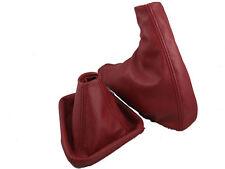 Fits bmw z3 Guêtres Bottes en cuir rouge foncé couvre