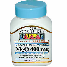 21st Century Magnesium Oxide 400mg 90ct Bottle- Made in the U.S.