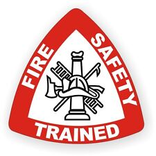 Fire Safety Trained Hard Hat Decal / Helmet Sticker Firefighter Rescue Team