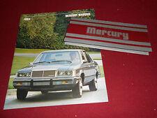 1984 MERCURY MARQUIS BIG BROCHURE / CATALOG plus ORIG. PAINT COLOR CHIPS FOLDER