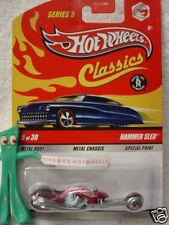 2009 Hot Wheels S5 Classics HAMMER SLED∞HOT PINK motorcycle∞Series 5