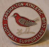 CARSHALTON ATHLETIC Vintage SUPPORTERS CLUB Badge Maker TOYE KENNING 26mm x 26mm
