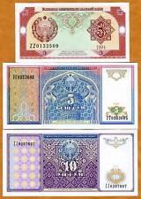 Uzbekistan, SET, 3;5;10; 1994, UNC > Scarce Replacement