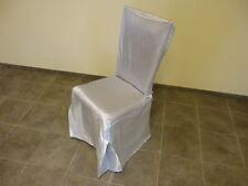 Stuhlhusse Stuhlbezug in SILBER mit SCHLEIFE