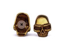10PC 17X22MM Coppper Leathercraft Skull rivet stud Rock screwback Conchos Wallet
