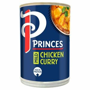 PRINCES / PRINCESS Mild Chicken Curry 392g x 6 Large Tins Cans LONG DATE