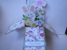 Happy Easter Sping Bunny Butterfly Pop Up Box Birthday Handmade Card Kit Lot(4)