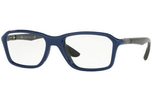 New Authentic Ray Ban RB 8952 5606 Shiny Blue Eyeglasses 53-19-145 Made in Italy