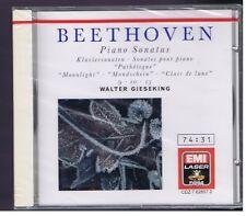 BEETHOVEN CD (NEW) PIANO SONATAS 8.9.10 10. 13. 14 / WALTER GIESEKING