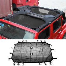 Sun Shade Screen Eclipse Top Cover Mesh for Jeep Wrangler Jk 2007-17 4Door Black