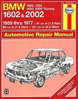 BMW 1500, 1502, 1600, 1602, 2000, 2002 Repair Manual 1959-1977