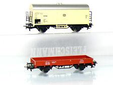 Märklin 4423 +4415 H0 Low-Sided Wagon and Refrigerator Wagon DB