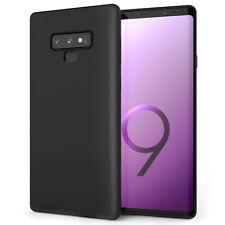 Samsung Galaxy 9 CASE, Note ultra IN SILICONE COVER TELEFONO Gel Morbido-Nero Opaco