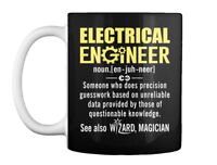 Electrical Engineer Definition - Noun. [en-juh-neer] Someone Who Gift Coffee Mug