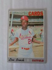 Lou Brock 1970 Topps Baseball Card #330 VG+ Condition ST. Louis Cardinals