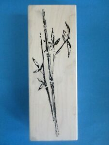 Lg BRUSHED BAMBOO Rubber Stamp ART IMPRESSIONS Leaves