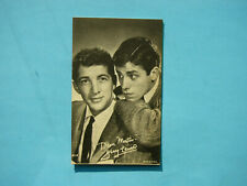 1947/66 TELEVISION & ACTORS EXHIBIT CARD PHOTO DEAN MARTIN JERRY LEWIS EXHIBITS