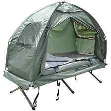 4 in 1 Tent Cot Air Mattress Sleeping Bag Foot Pump Bag Case Hiking Camping Hunt