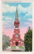Biddeford, ME, 1940's post card, St. Joseph's Church