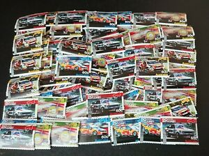 Bulk x 85 60c Australia 50 Years Racing at Bathurst Stamps used off paper - 2012