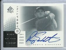 2001 SP Authentic Golf - RORY SABBATINI - Autograph - PGA