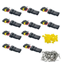 10 X 3 Pin Way Car Auto Waterproof Electrical Connector Plug Socket Wire Kit UK