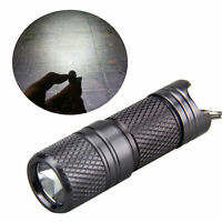 Compact Mini USB Rechargeable LED Flashlight Lamp Keychain Torch Light Night AM