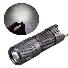 Mini Rechargeable Torch Flashlight Light Lamp USB Pocket Keychain LED White