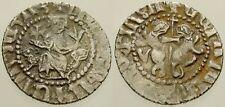 063. Armenian Silver Coin. LEVON I. AR Tram. Sis Mint. King on Throne. VF