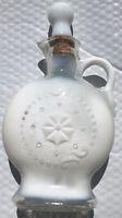 Vintage 1957 Milk Glass JIM BEAM Whiskey Empty Bottle Decanter D-334 EUC