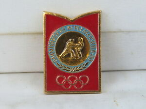 Vintage Olympic Pin - 1980 Moscow Judo - Stamped Pin