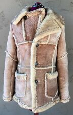 Vintage Shearling Sheepskin Fur Coat Jacket (Size 42) Abercrombie