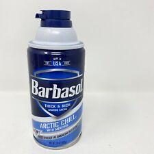 (1) Barbasol Arctic Chill with Menthol Shaving Cream 10oz