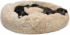 XL Comfy Calming Dog Cat Sleeping Bed Warm Soft Plush Round Kennel Cute Nest