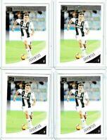 2019 Panini Donruss Soccer Paulo Dybala (Juventus) Base Card Lot of 4