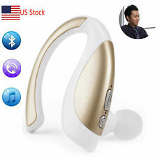 Handsfree Bluetooth Headset Headphone With Mic For Cell Phones Samsung Lg Ios