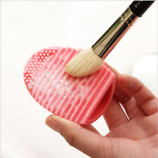 Oeuf Brush Egg en Silicone pour Nettoyage Pinceaux à Maquillage - Rose Tendre