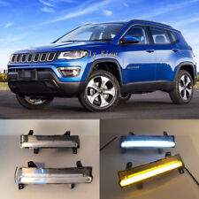 LED Daytime Running Lamp Yellow Turn Signals Light For JEEP Compass 2017~2018