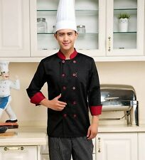 Chef Jacket Coat Chef Uniform Restaurant Hot Kitchen Men Long Sleeve Cooker Work