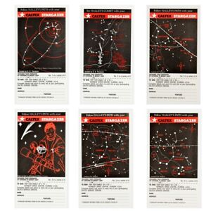 CALTEX STARGAZER, HALLEY'S COMET Card Series1986. Complete set of 6 cards